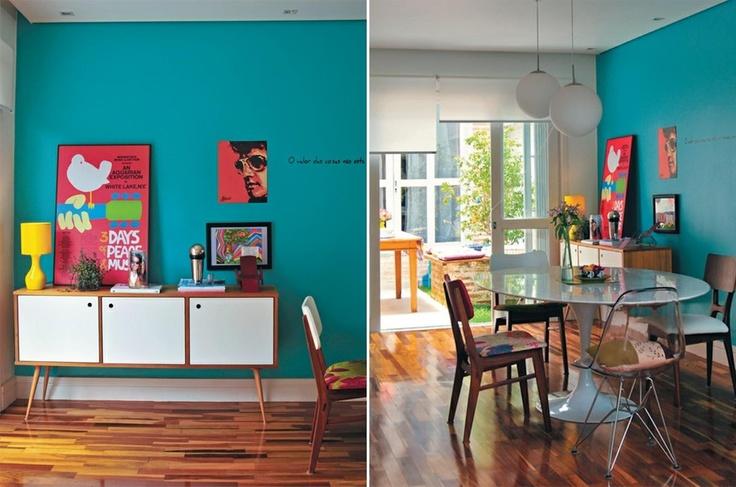Las 25 mejores ideas sobre paredes de color turquesa en for Paredes azul turquesa