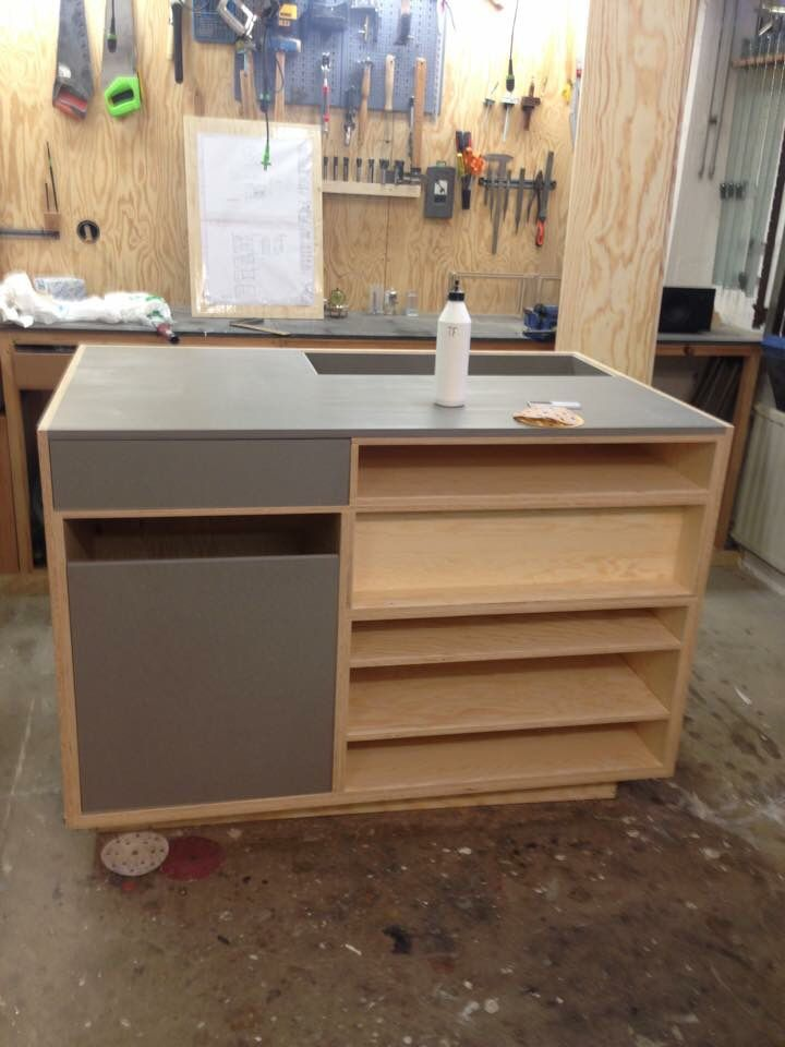 Cashiers desk for Sandqvist. #wip #workinprogress #furniture #retail #plywood #valchromat #sandqvist #dawnofideas