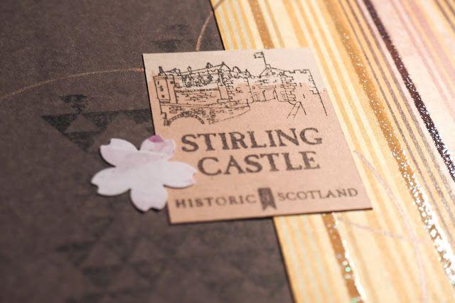 Une page de scrapbooking sur la ville de Stirling, en Écosse #scrap #diy #album #chateau