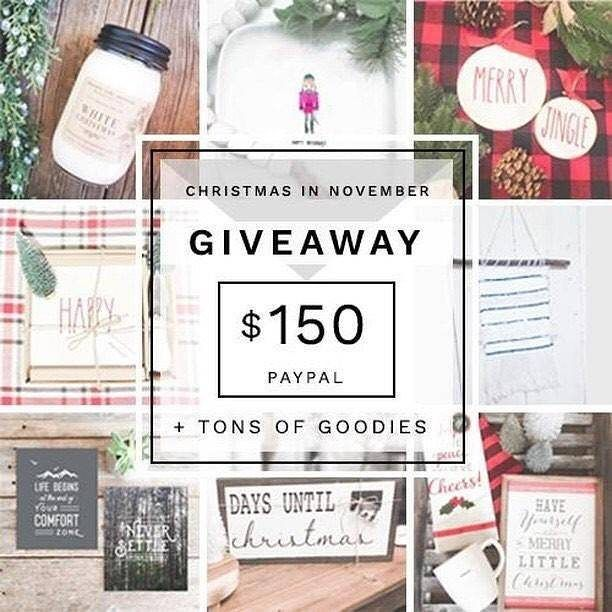 Its a Christmas  in November Giveaway  ___ GO TO ---- @theanastasiaco next ___ Some gorgeous friends and I have teamed up to thank you all for your friendship && support && of course for inspiring us every day here on insta! We're giving away $150 USD cash  via PayPal  5 delicious handmade items (from some makers youll find in this loop!!)  3 holiday decor items  all of it is sure to be loveable OR giftable  ___ Here's how to enter: FOLLOW ME (we check!) LIKE this photo (this is your entry)…