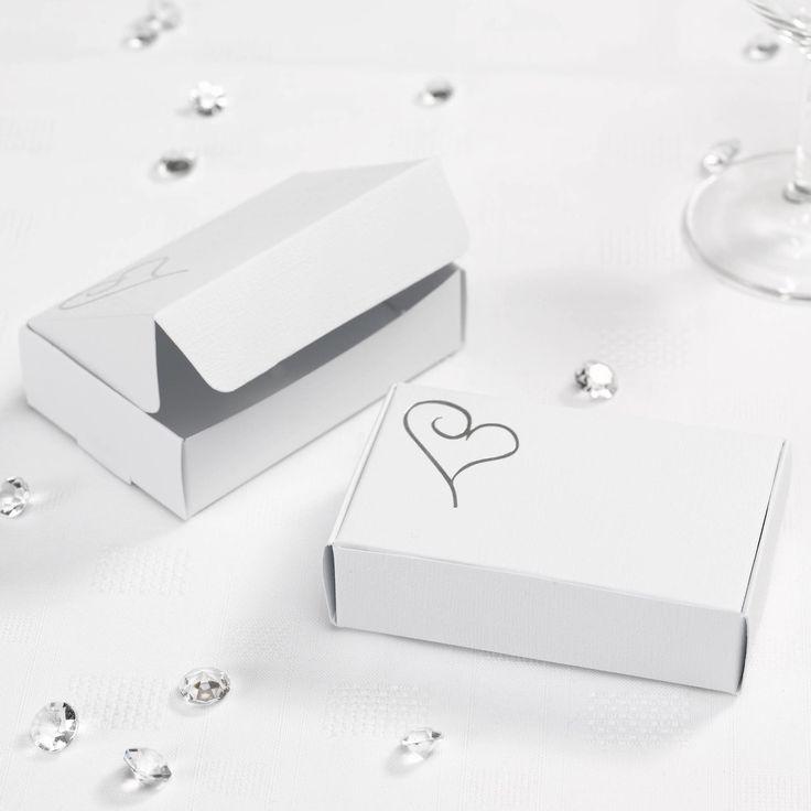 Contemporary Heart - Cake Boxes- Weddings