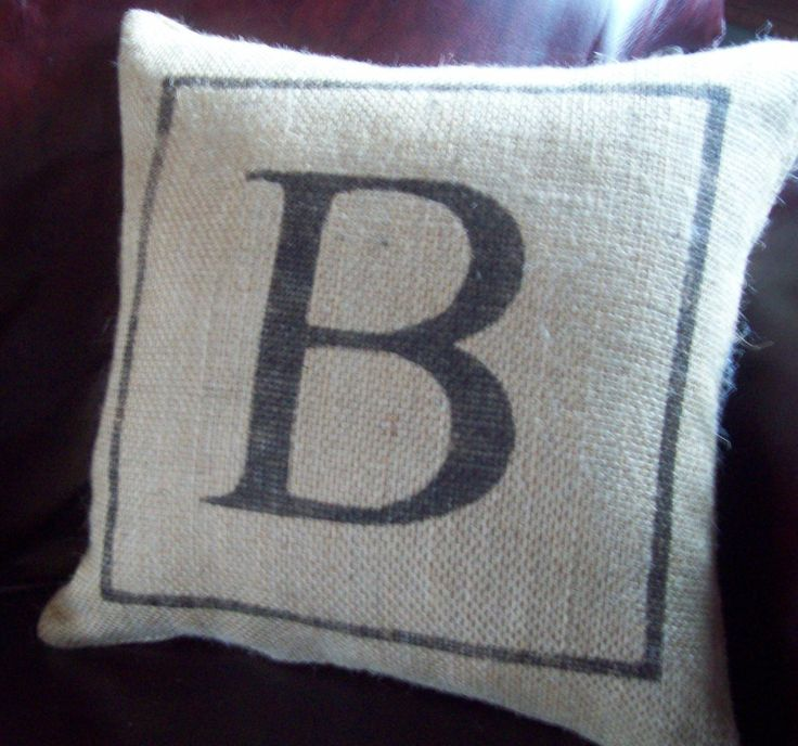 Decorative Pillows Letters : 1000+ ideas about Initial Pillow on Pinterest Applique pillows, Letter pillow and Throw pillow ...
