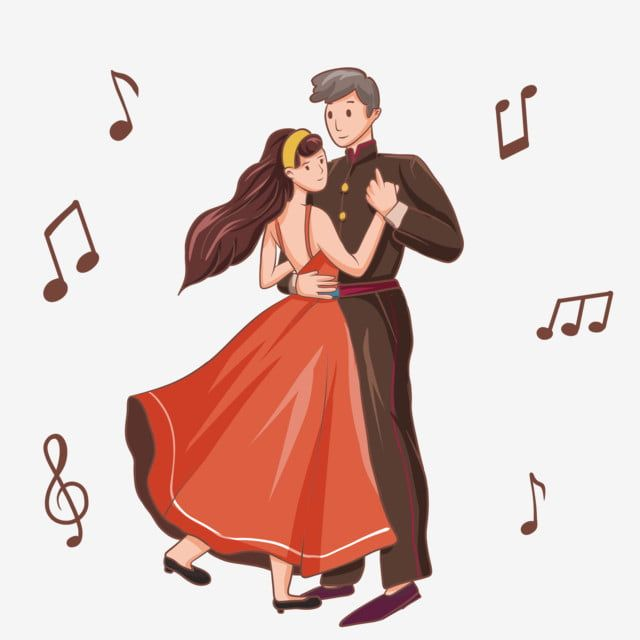 Hand Painted Couple Dance Dance Dancing Note Illustration Fashion Dance Png Transparent Clipart Image And Psd File For Free Download Couple Dancing Cute Couple Dancing Dancing Clipart