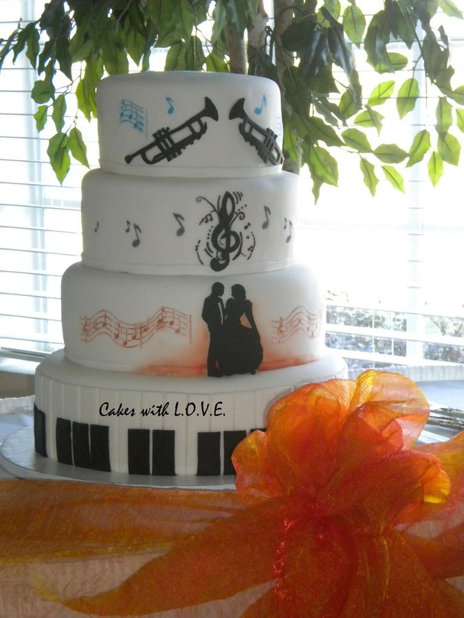 music themed wedding cake | Music Theme Wedding Cake — Round Wedding Cakes