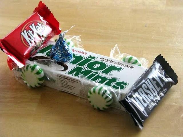 Pinewood Derby car treats
