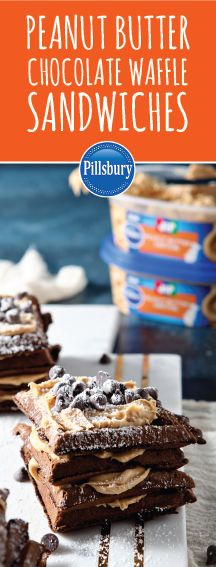 A breakfast classic just got a dessert makeover thanks to this recipe for Peanut Butter Chocolate Waffle Sandwiches! A slather of the new Pillsbury™ Jif® Peanut Butter Frosting helps bring this homemade treat together with a taste you and your kids will love. Head over to your local Kroger to grab all the ingredients you need to whip up this sweet creation for your next occasion!