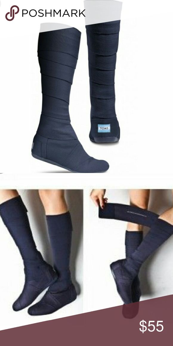 TOMS Wrap Boots Brand New Navy Blue TOMS Wrap Boots. These are very nice boots! Thank you for shopping! TOMS Shoes
