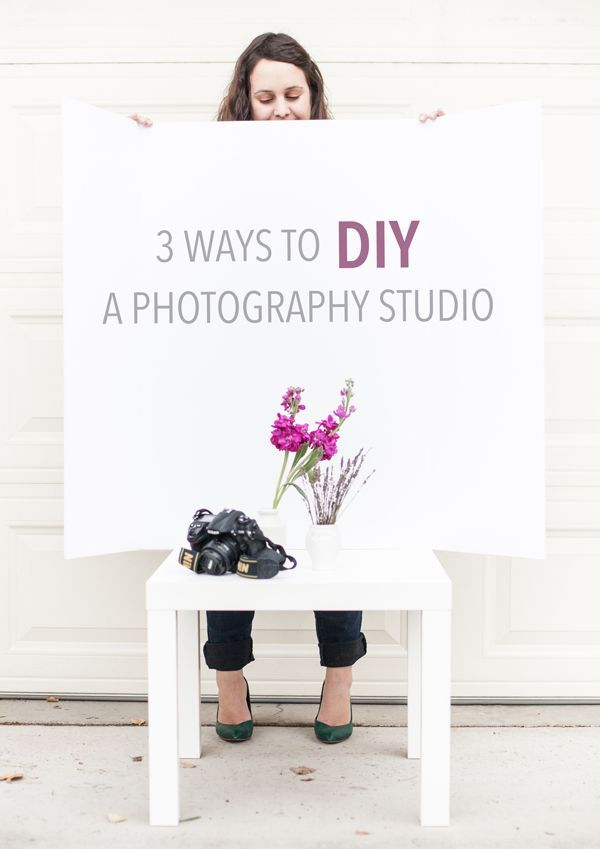 3 ways to DIY a photography studio from home: