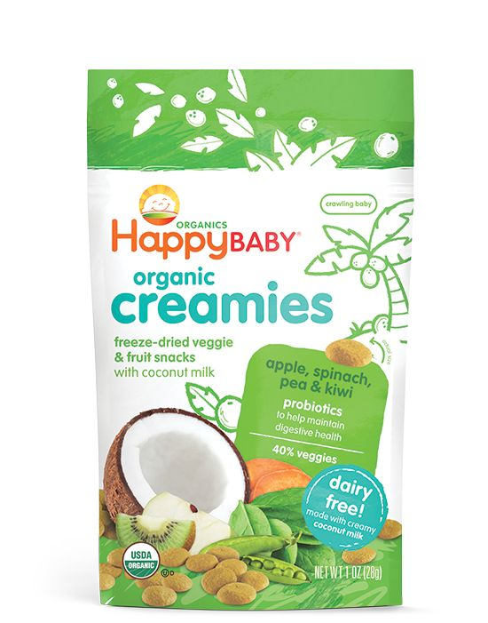 Delicious non-dairy drops, made with organic fruits, veggies, coconut milk, and probiotics. Each bag contains at least 40% veggies.