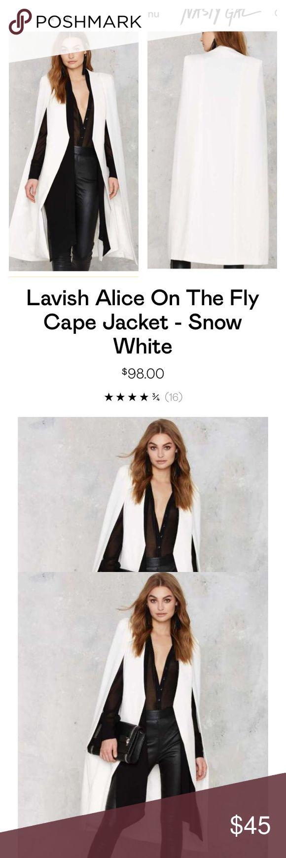 Lavish Alice cape blazer Long lavish Alice cape blazer. New never worn. Nasty Gal Jackets & Coats Blazers