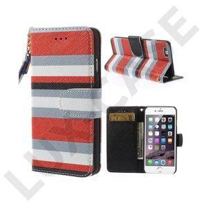 Hamsun (Rød) iPhone 6 Læder Flip Etui