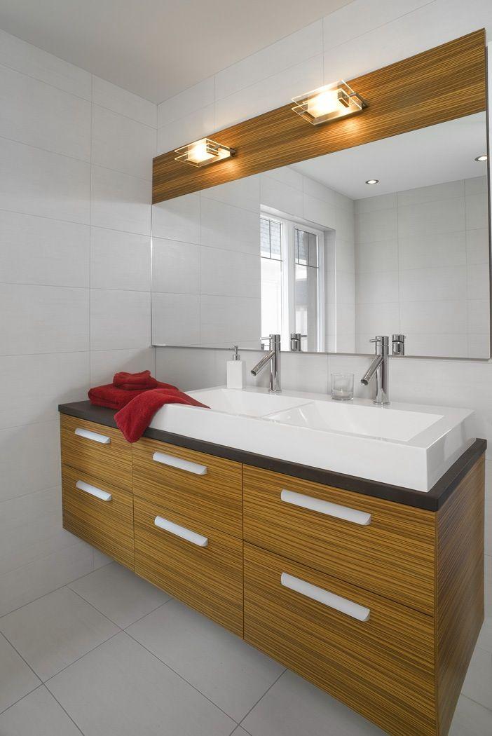 Magnifiques armoires en placage de bois z brano int ress for Armoire salle de bain bois