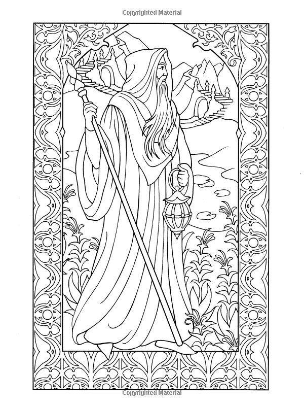 Coloring pages of wizards ~ Pin by Roberta Carter on Craft Ideas | Pinterest