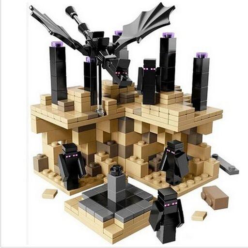 Tierras lejanas Steve EnderDragon Hierro Modelo Brinquedos juguetes Golem Minecraft Juguetes, Bebé Niños Juguetes Anime Figura de Acción de Juguete Ensamblado