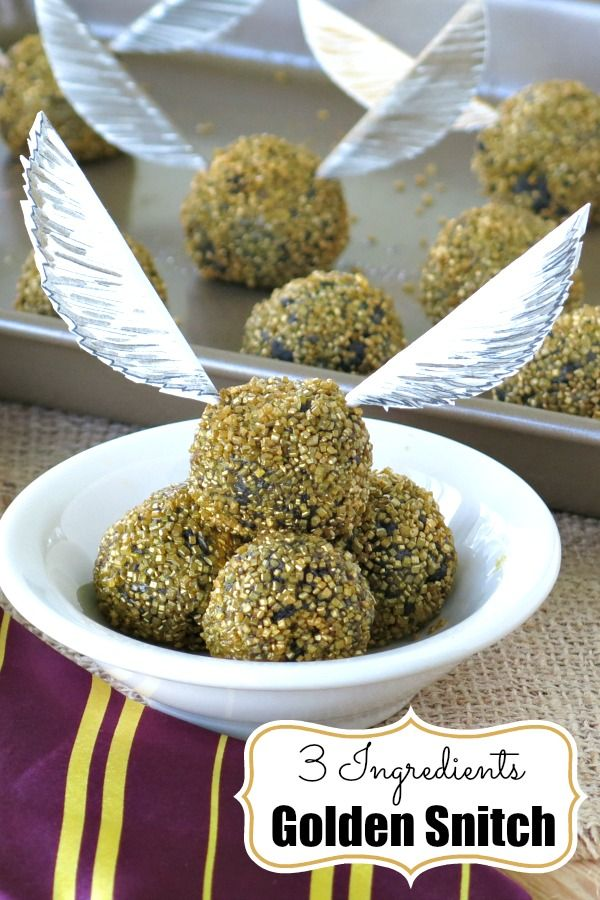 harry potter golden snitch truffles recipe just 3 ingredients all