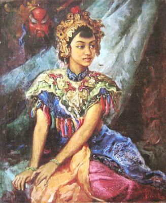 Basoeki Abdullah - Pakaian Wayang Tiongkok
