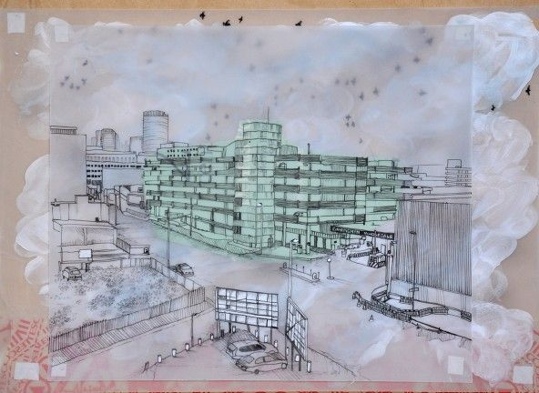 Sarah Silverwood Smith completed a series called 'The Living City', which looked at areas of Birmingham undergoing redevelopment and saw the city as being alive.