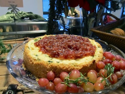 """savory cheesecake from """"Cook Like a Caterer"""""""