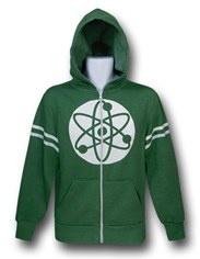 Big Bang Theory Green Atom Zip-Up Hoodie