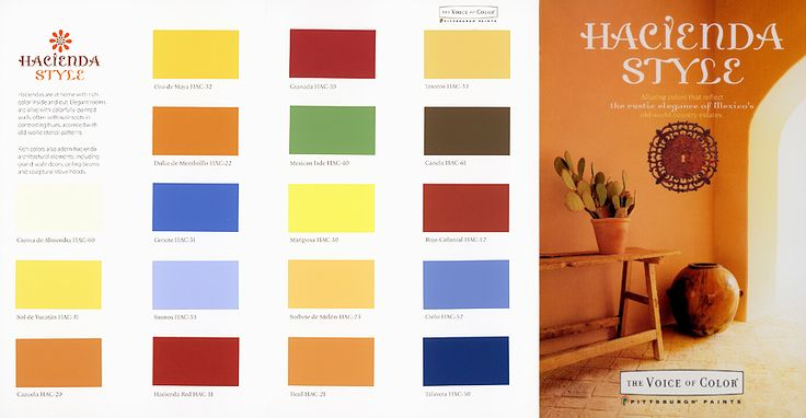 Colors - Hacienda Style by Joe P. Carr and Karen Witynski Carr, AVailable at Pittsburgh Paints