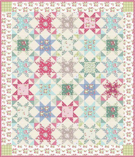 La Conner Stars Free Quilt Pattern