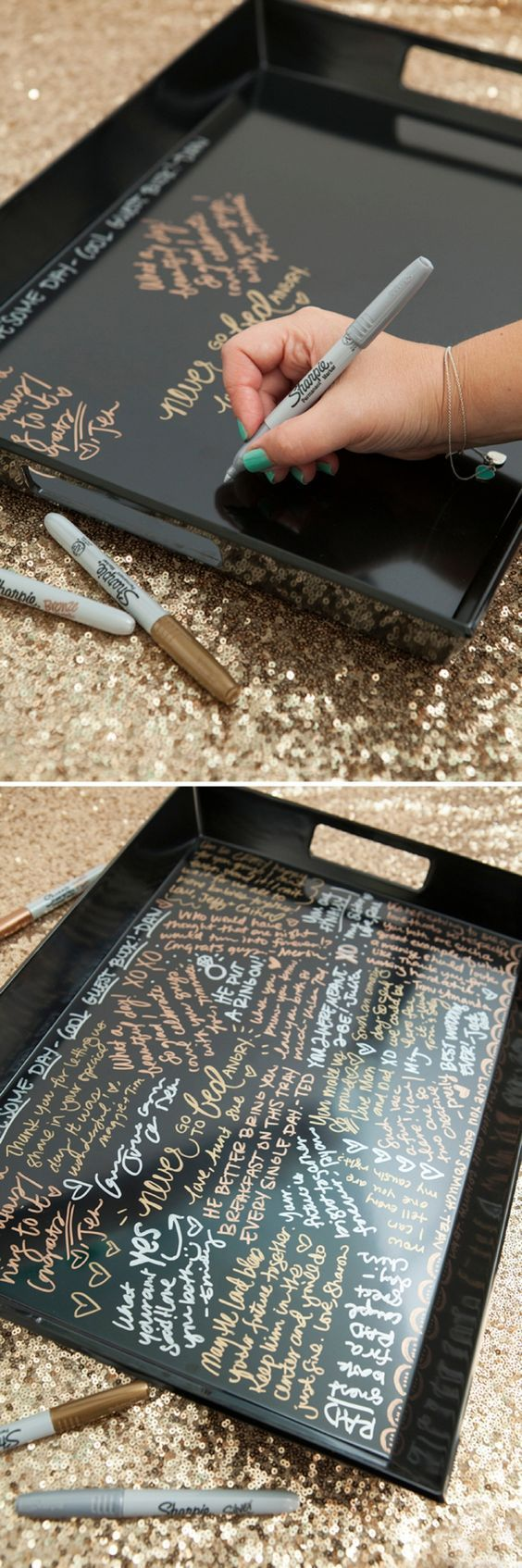 Make Your Own Resin Coated Guest Book Serving Tray!