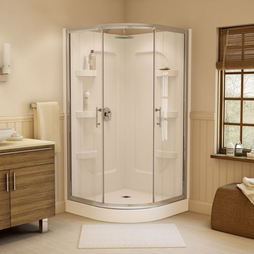 Jono Hudson 38-in. Neo-round Corner Shower