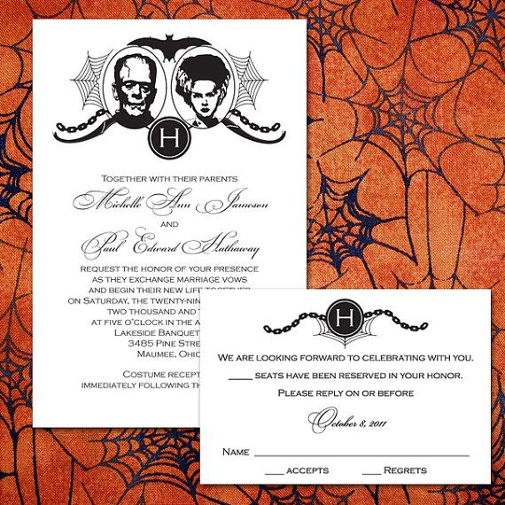 17 Best ideas about Halloween Wedding Invitations on Pinterest ...