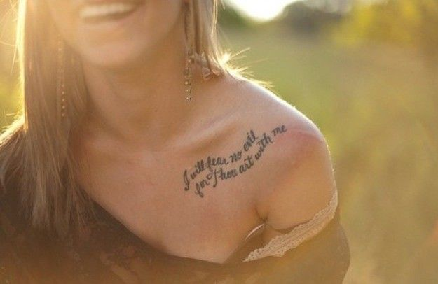 gorgeous life tattoo quotes on collar bone for girls