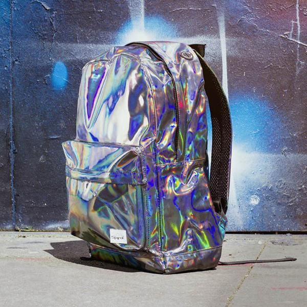 How exactly did the Hologram Backpack come to be? Was it retrieved from an oil slick? Blasted out of a shimmering supernova? Perhaps it stumbled out of Cyberpun