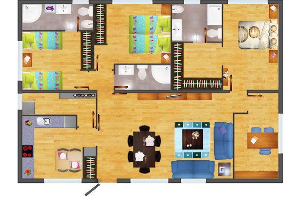 Planos de casas madera 3 dormitorios buscar con google - Casas rurales de madera ...
