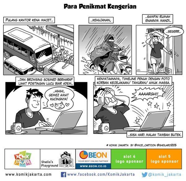 Para Penikmat Kengerian by @sheilaro2105 #KomikJakarta @mice_cartoon
