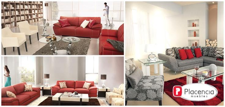 Sala roja placencia muebles tips de tendecias for Muebles placencia