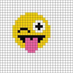 Pixel Wink Emoji by Mewmew_furrkyou on Kandi Patterns