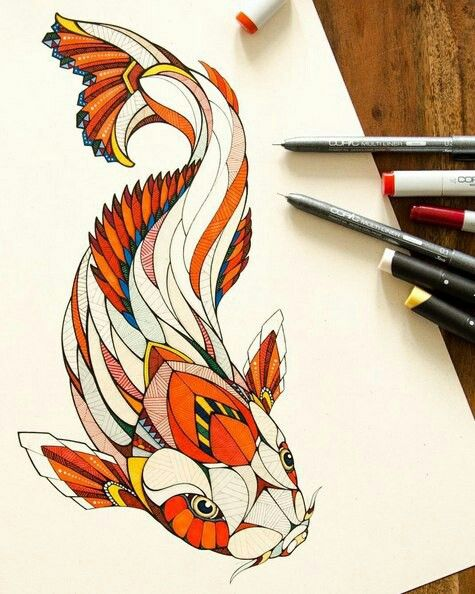 Koi fish tattoo idea