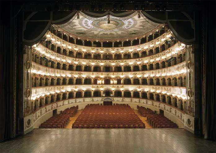 Teatro Comunale in Ferrara (Italy).