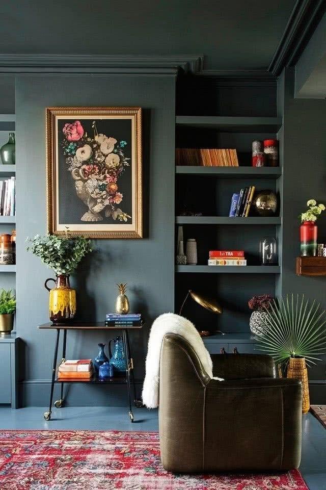 De Que Color Pintar Las Paredes Del Salon Con Muebles Marrones Muebles Oscuros Paredes Del Salon Muebles