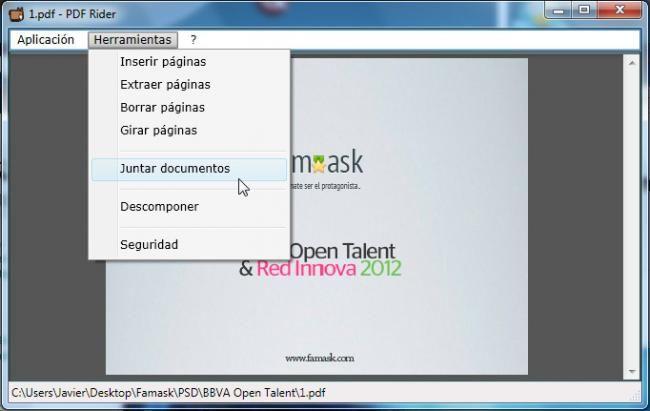 PDF Rider, una aplicación para unir PDF fácilmente desde Windows http://www.genbeta.com/p/70103