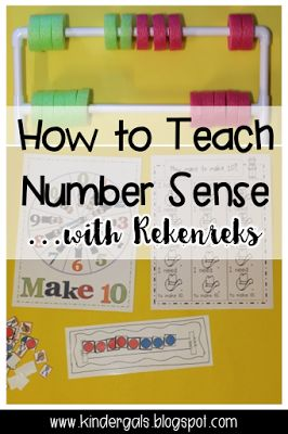Rekenreks, Smart Boards, and Number Sense - Blog post with lessons and ideas to help teach number sense. Perfect for kindergarten math.