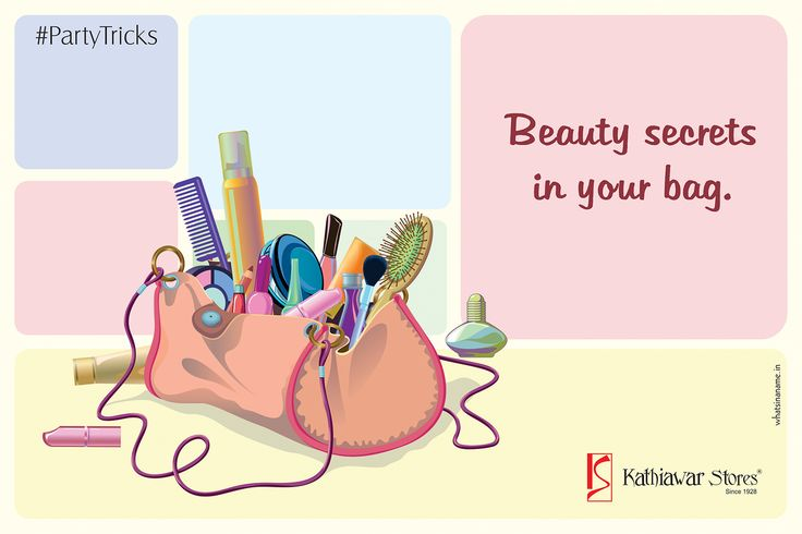 Here are a few things we recommend, you should keep handy while you go club hopping: Kajal stick, lipstick, hairbrush and a compact.  If you think there should be more, add on your suggestion in the comment box to let the other girls look their best self. #PartyTricks #Kathiawarstores
