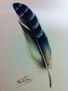 bluebird feather tattoo