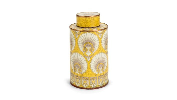 Yellow Fan Jar - Buy Online at LuxDeco