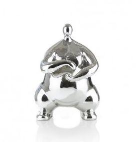 Dit glanzende object 'Tai chi man' van het merk Youniq is echt gaaf! Hij is gemaakt van Polyresin in het zilver! Een mooie blikvanger voor op de kast of op tafel.