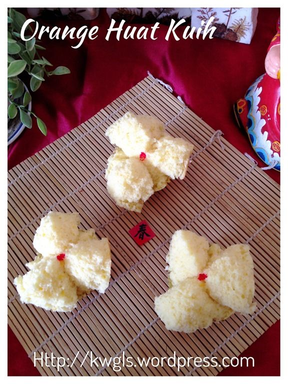 Orange steamed cake or huat kuih 香橙发糕#guaishushu #kenneth_goh #香橙发糕  #orange_huat_kuih
