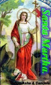 Santos  Oraciones: Santa Marta dominadora oracion Para dominar al mar...