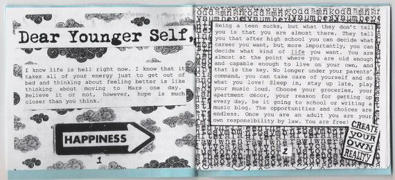 Letter to My Younger Self Zine by scissorkix on Etsy