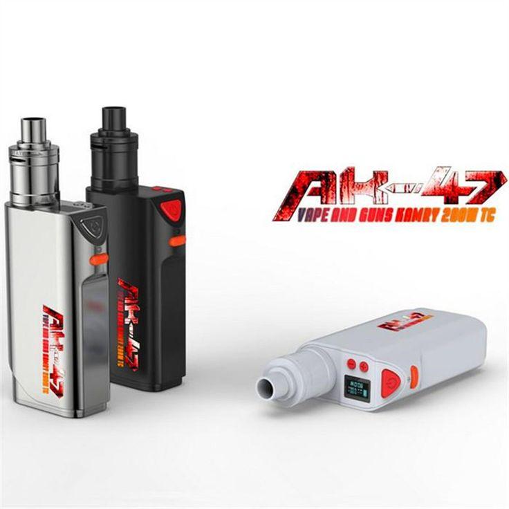 Authentic Kamry AK-47 200W TC Mod Kit cool AK47 MOD VT VW Mode Delicate casting fit 510 thread RDA RBA Tank Electronic Cigarett #Affiliate