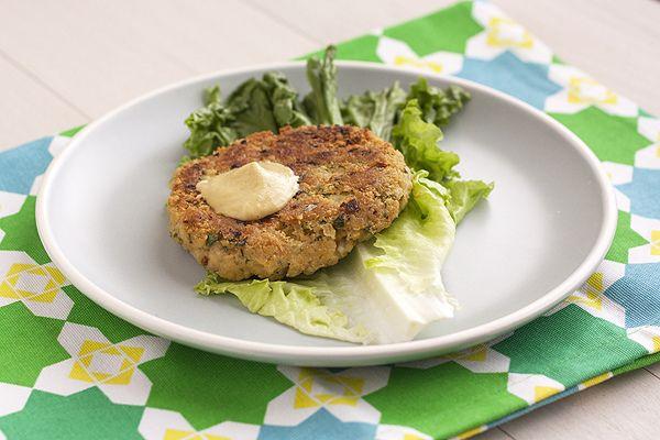 Chickpea-Brown Rice Veggie Burgers