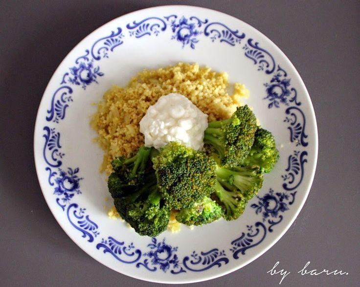 Buď zdráv (by baru.): Oběd za 15 minut: Kuskus s brokolicí a sýrem cottage