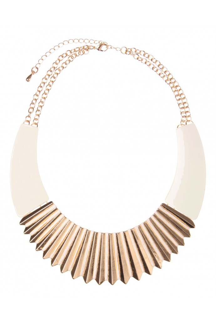 Metal And Colour Necklace in IVORY #7139 - colette by colette hayman